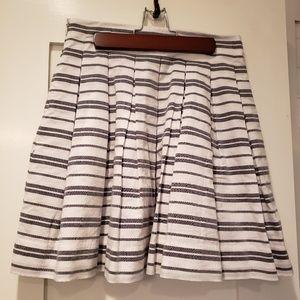 Gap Pleated Skirt Size 0 Wht/Blk